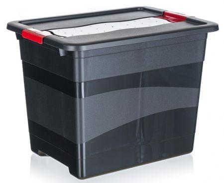 keeeper solidne pudełko z wieczkiem na zatrzaski 24l