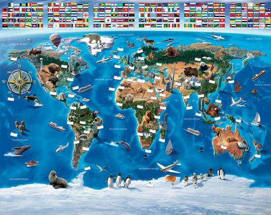 Walltastic Fototapeta Mapa sveta