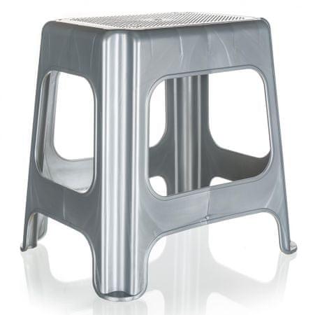 keeeper visoka pručka 41 x 33,5 x 42,5 cm, srebrna