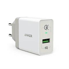 Anker stenski polnilec PowerPort+ QC 3.0, bel