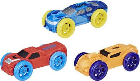 NERF zestaw małych samochodów Nitro, 3 szt.