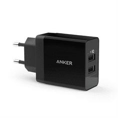 Anker zidni punjač 24W 2-port USB, crna