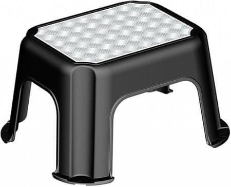 Rotho stolica Paso, crna, s protukliznom površinom