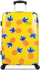 REAbags potovalni kovček B.HPPY Home Sweet Pineapple, M
