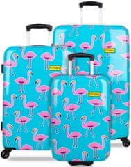 REAbags komplet potovalnih kovčkov B.HPPY Go Flamingo