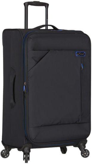 """AZURE Cestovní kufr Spirit """"L"""" černá/modrá"""
