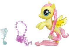 My Little Pony Fluttershy morski poni z modnimi dodatki, 15 cm