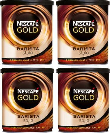 NESCAFÉ GOLD Barista Style instantná káva 4x180g