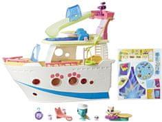 Littlest Pet Shop Hrací set Výletní loď se 3 zvířátky