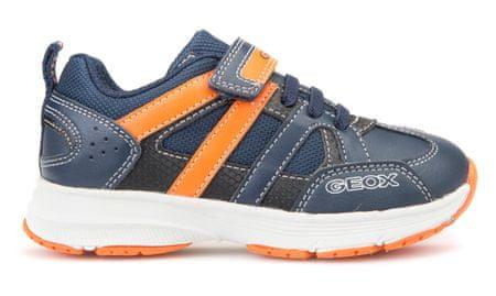 Geox chlapčenské tenisky Top Fly 32 modrá/oranžová