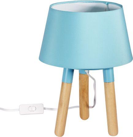 TimeLife Asztali lámpa 30 cm, háromlábú, kék