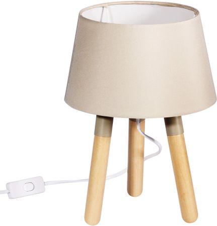 TimeLife lampa stołowa 30 cm, trzy nogi, beżowa