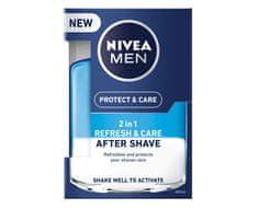 Nivea Ápoló borotválkozás utáni arcvíz 2v1 Men Refresh&Care 100 ml
