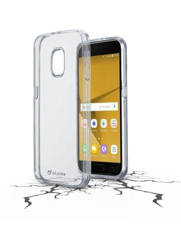 CellularLine prozoren ovitek iz plastike in robom iz gume Clear Duo za Samsung Galaxy J7 (2017)