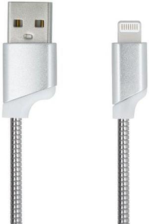 Forever Dátový kábel pre Apple Iphone 5, metal strieborná
