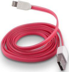 Forever Dátový kábel pre Apple Iphone 5, silikónový, ružová