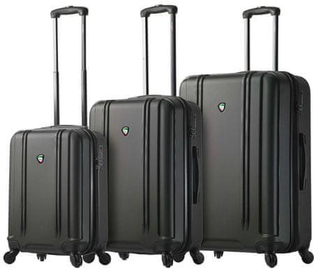 Mia Toro M1210 / 3 utazó bőrönd készlet, fekete