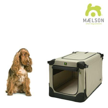 Maelson skrzynia dla psa Soft Kennel, czarny/beżowy, rozm. 72