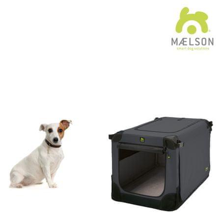 Maelson Přepravka Soft Kennel s popruhy černá / antracitová vel. 52