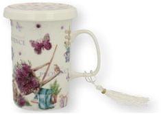 Marex Trade Hrnček na čaj s viečkom a čajítkom PROWANS 320ml v darčekovom balení