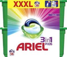 Ariel gel kapsule Color 3 v 1, 56 kosov