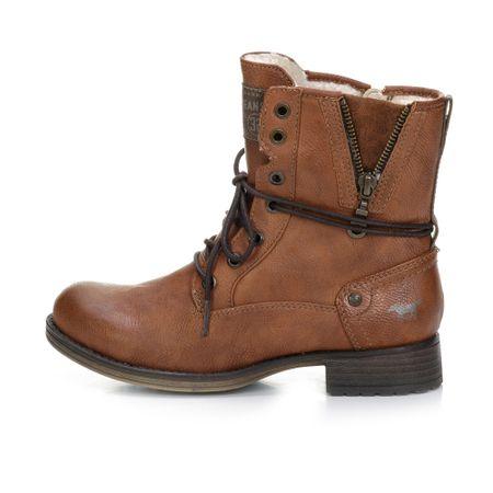 Mustang buty za kostkę damskie 1139630 37 brązowy