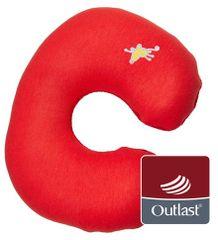 Little Angel Cestovní polštářek, červená/starorůžová
