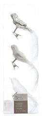 Kaemingk Dekoratívne ozdoby vtáčiky, biela 3 ks