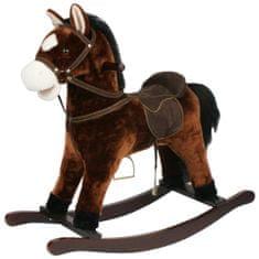 Teddies Houpací kůň tmavě hnědý