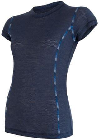 Sensor Merino Air dámské triko kr.rukáv tm.modrá S