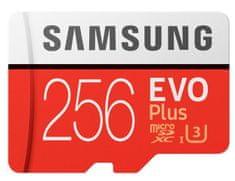 Samsung spominska kartica micro SDXC EVO+ 256 GB, UHS-I, class10, U3, 4K, UltraHD