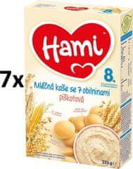 Hami Kaša mliečna s piškótami - 7x225g