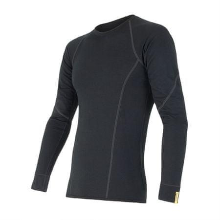 Sensor moška majica z dolgimi rokavi Merino Wool Active, črna, XXL