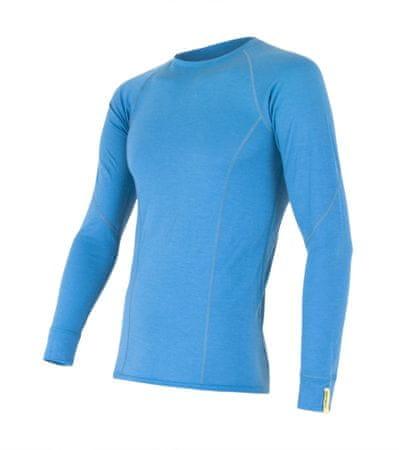 Sensor moška majica z dolgimi rokavi Merino Wool Active, modra, XL