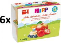 HiPP BIO Jablká s jahodami - 6x(4x100g)