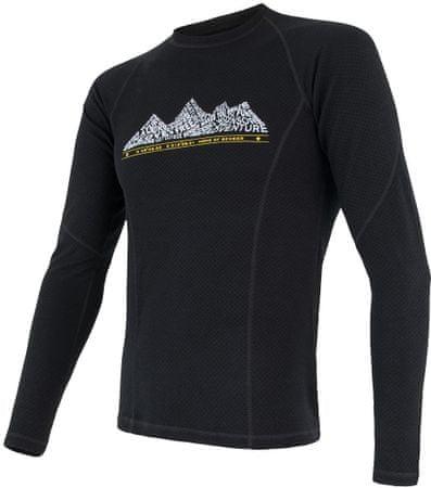 Sensor moška majica z dolgimi rokavi Merino DF Adventure, črna, M