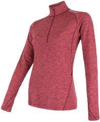 Sensor ženska majica z dolgimi rokavi in zadrgo Motion