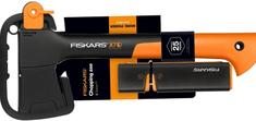 FISKARS X7 XS Kemping fejsze (121423) + Élező (120740)