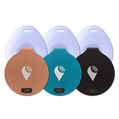 TrackR bravo - 3-Pack - černý / modrý / Rose Gold + 3x voděodolný návlek