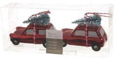 Kaemingk Dekorativní ozdoba autíčko, 2 ks