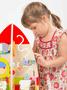 2 - Teddies Hrací stůl dřevo edukační raketa