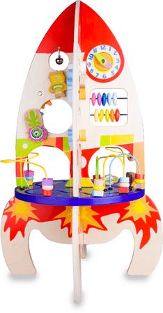 Teddies Hrací stůl dřevo edukační raketa