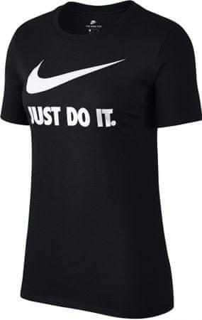 Nike ženska majica NSW Tee Crew JDI SWSH HBR, črna, M