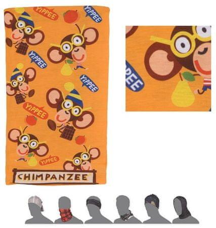 Sensor otroški šal Tube, z motivom šimpanzov