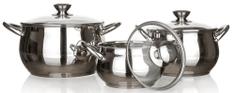 Banquet RONDEL 6 db-os rozsdamentes acél edénykészlet