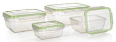 Banquet 4 db-os ételtartó doboz készlet, Zöld