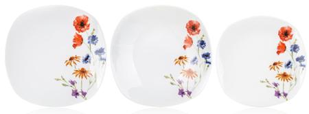 Banquet Sada talířů square FLOWERS, 18 ks