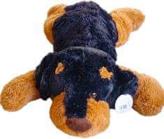 Mac Toys Sötét plüss kutya 90 cm