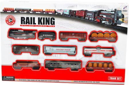 Mac Toys Vonat szerelvény nagyobb - Rail King