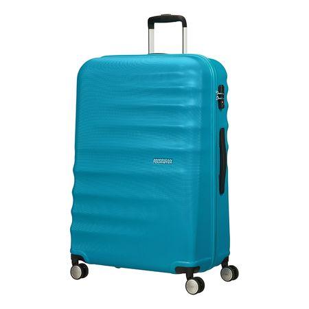 American Tourister kovček Wavebraker, spinner 77 cm, turkizen
